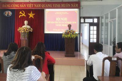Hội nghị triển khai công tác cải cách hành chính năm học 2020-2021